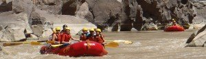 paddle rafts in Westwater Canyon