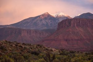 Professor Valley Field Camp View of the La Sal Mountains