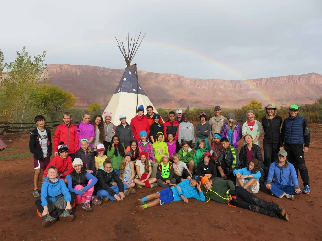 Participants gather together at Professor Valley Field Camp