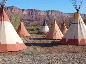 Professor Valley Field Camp tipis