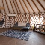 Couch in the yurt