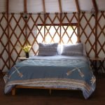 Comfy bed in our yurt
