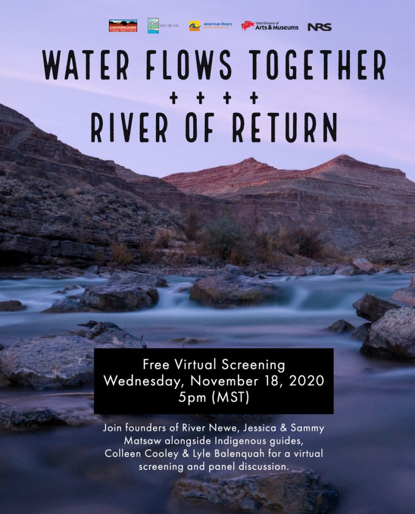 Indigenous Connections to Water information flyer